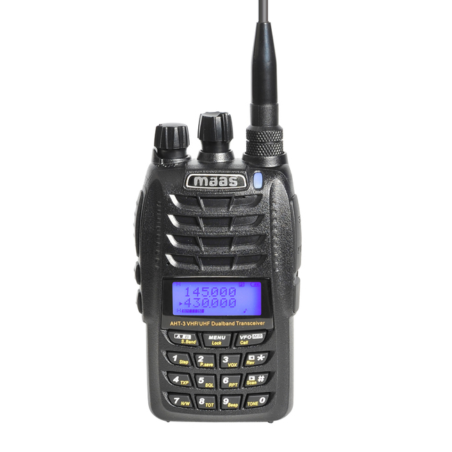 Dual Band Walkie MAAS AHT3UV VHF / UHF 144/430 MHz