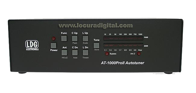 AT1000PROII Aclopador LDG automatic antenna from 1.8 to 54 Mhz. 1000 w. P.E.P.