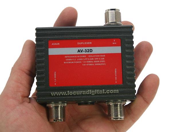 AV32D AVAIR Duplexor 1 entrada , 2 salidas 1,6-56 Mhz./ 140-470 Mhz.
