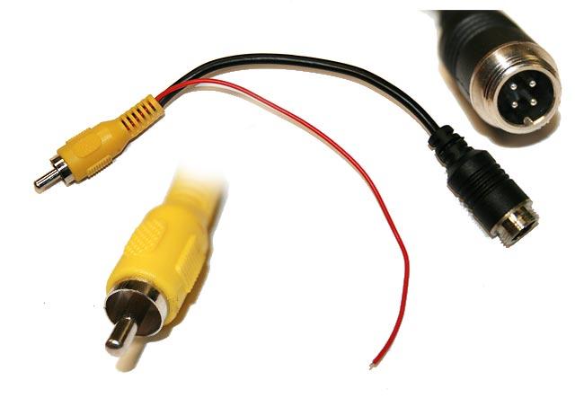 BRV020 BARRISTER Cable adaptación con conector 4 pins a RCA. Long. 18 cms.