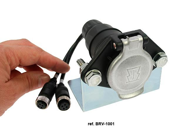 BRV-1001 CONNECTOR WITH SPECIAL SUPPORT FOR TRAILERS AND CABLE CONNECTION TWO CHAMBERS