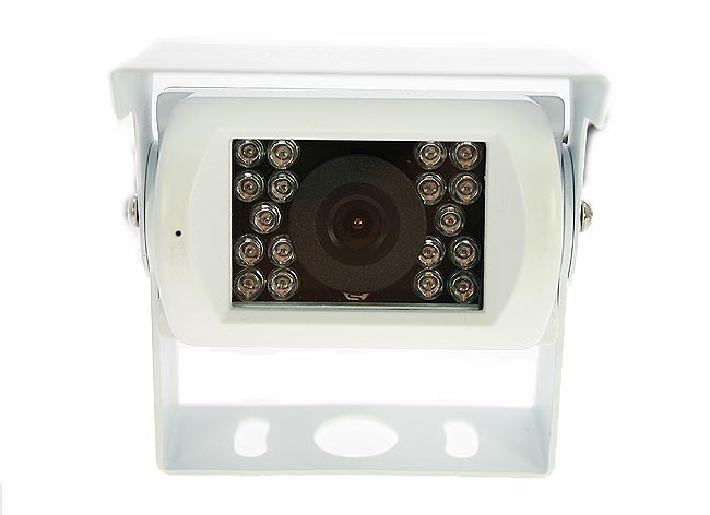 BRV-5 WHITE BARRISTER retrovision + System-Rearview Monitor 7 inch + 1 noturna vision camera. Color White