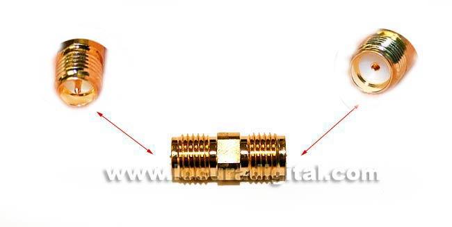 CON3911 adaptateur SMA REVERSE pour SMA femelle standard