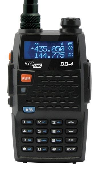walkie polmar db4 dual band vhf / uhf 144/430 mhz