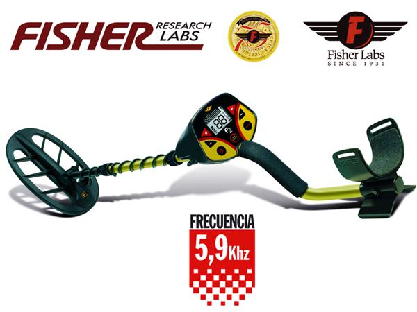 F2 F2 FISHER PRO PRO 5,9 KHZ. Détecteur de métal. Avec un objet indicateur de profondeur