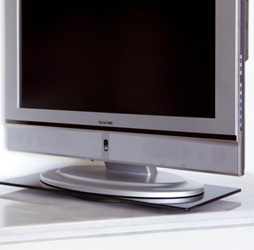 Girorec43 soporte rectangular de cristal giratorio para - Soporte tv giratorio ...