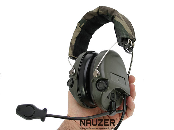 NAUZER HEL 980 Headphones Micro special AIRSOFT thinness with amplifier.