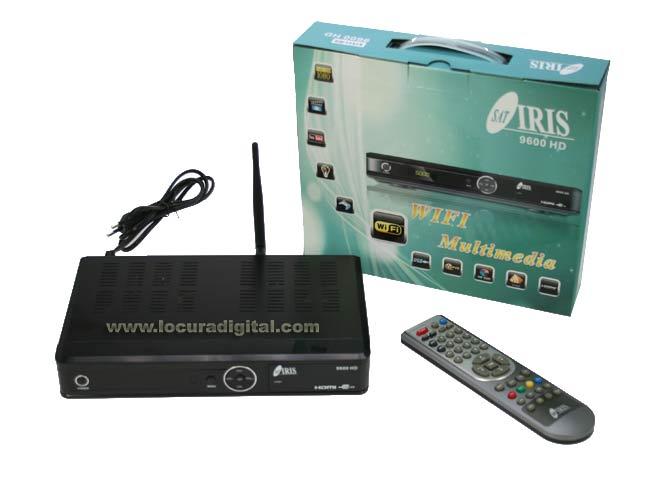 IRIS9600HD IRIS Receptor satélite IRIS 9600HD WIFI. Alta definición HD