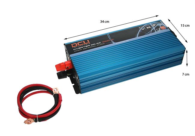 DCU PSI100012 Inverter 12 volt DC to 220 volt AC, 1,000 watts. Puresine