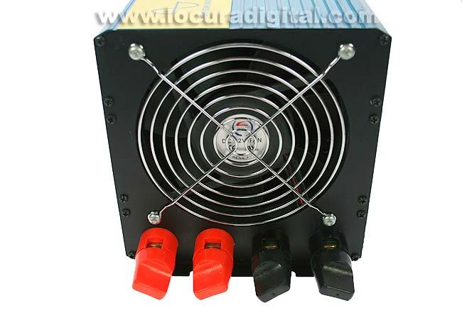 2 Cables de alimentacion dobles uno rojo positivo y negro negativo diametro cable 6,5 mm