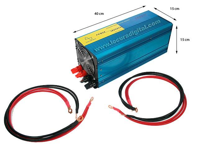 DCU PSI300012 onduleur de 12 volts DC ?20 volts AC, 3000 watts. Puresine
