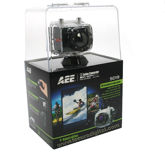 AEE SD19F Sports Camara sumergible de uso extremo Full HD 1080p.