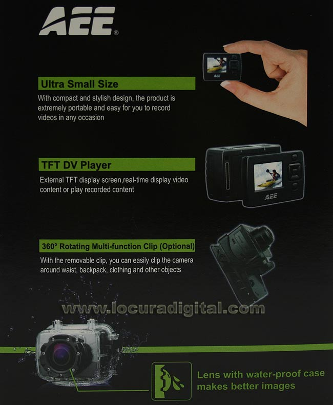 ESA SD19F Sports Camera waterproof end-use Full HD 1080p. Full equip