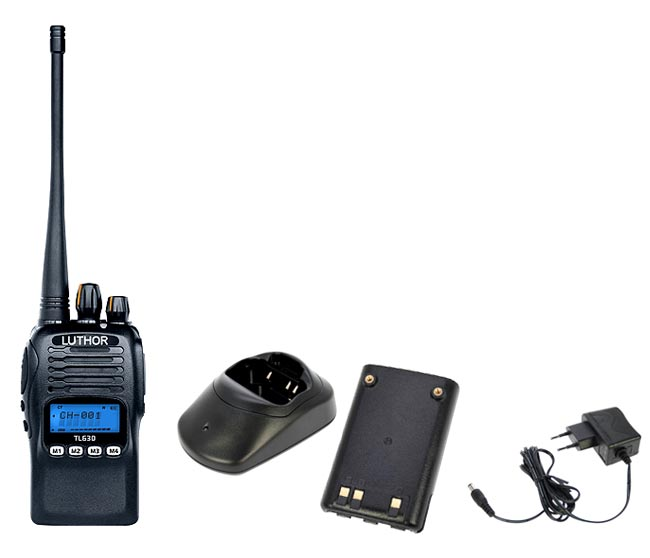 LUTHOR TL-630 Walkie 250 CANAUX PROFESSIONNELS VHF136 - 174 mhZ. Protection IP-67 - - Disponibilité en mars 2013 -