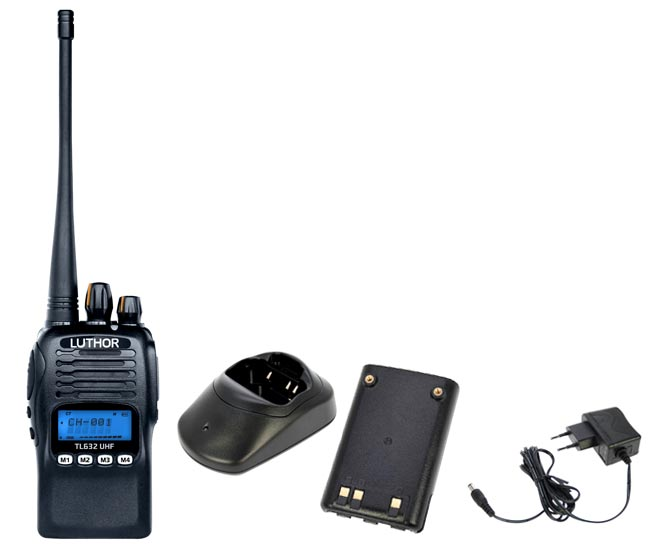 luthor tl-632 walkie 250 canaux professionnel uhf- 410-470 mhz. protection ip-67
