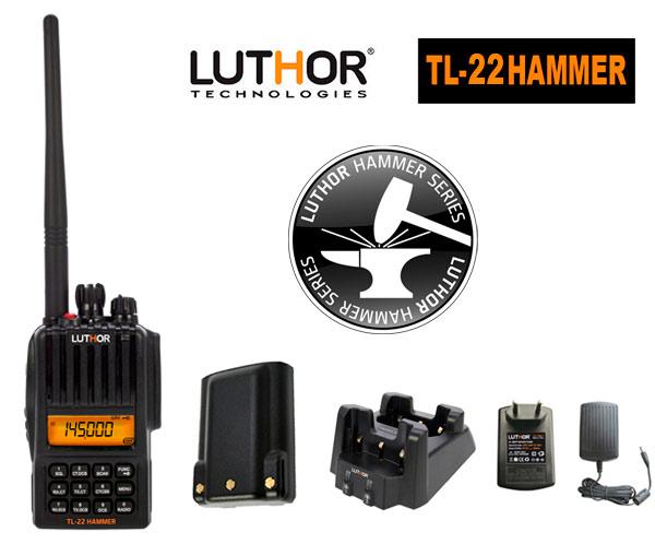 LUTHOR TL-22 HAMMER Walkie monobanda VHF144 mh. Proteccion al agua IP-65 -