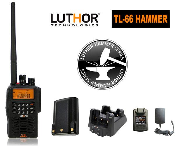 luthor tl-66 hammer walkie doble banda vhf/uhf 144/430 mhz.