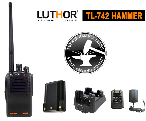 LUTHOR TL-742 Talkie HAMMER PROFESSIONNEL UHF 16 CANAUX
