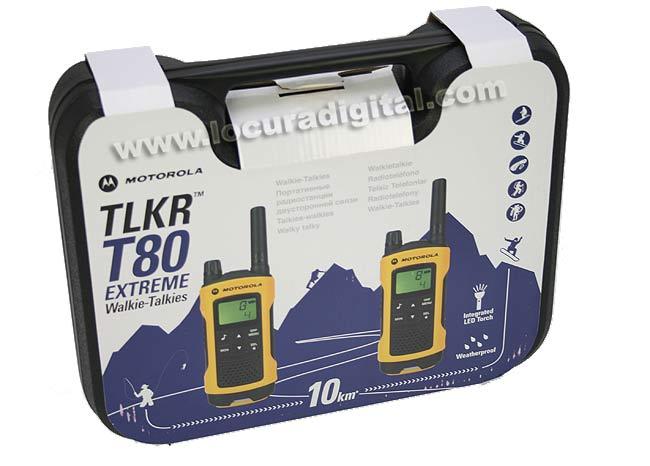 MOTOROLA TLKR T80 EXTREME nuevo modelo. WALKIE USO LIBRE 2 PINGANILLOS.