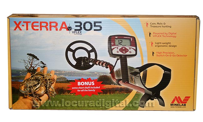 The X-Terra 305 is a detector designed for those who are new to this hobby, a solid detector without features that can confuse.