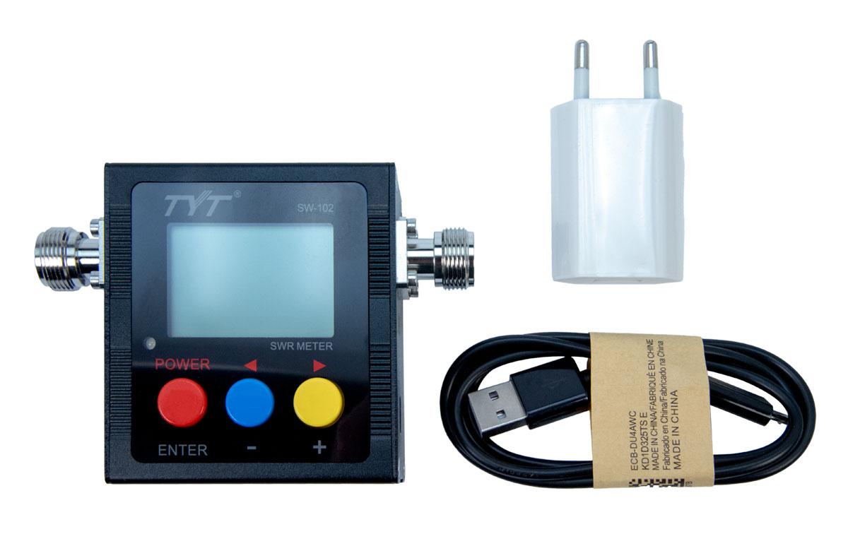 SW102 TYT Frecuencimetro SWR Digital VHF/UHF 125-525 Mhz
