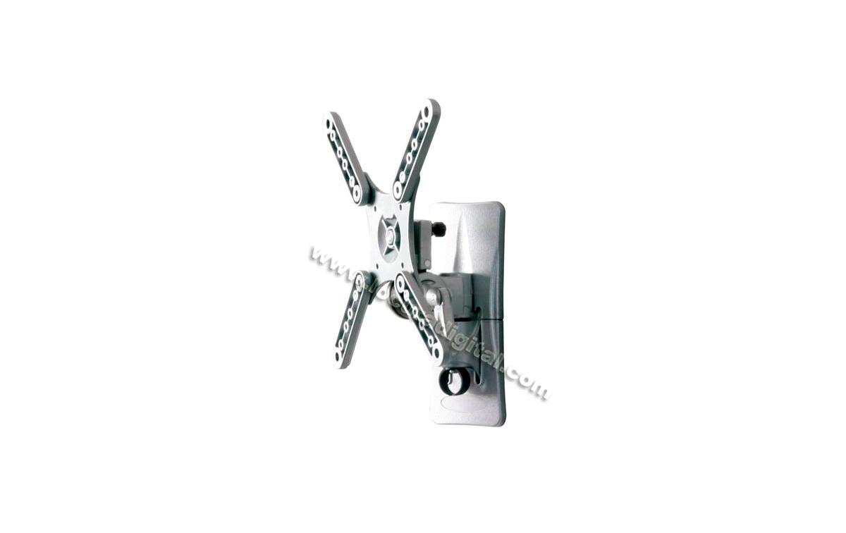 LUNIXPRO-1 Plata - Soporte 1 articulación para TV plasma y LCD de 10 a 32 pulgadas