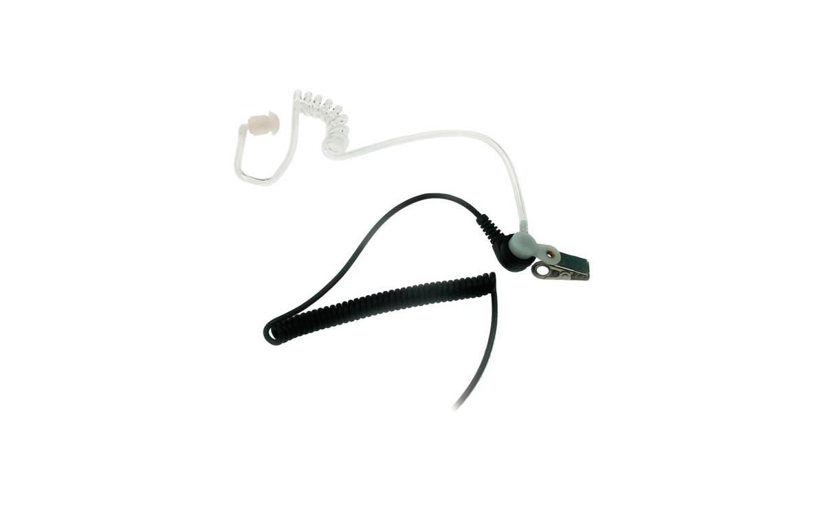 Nauzer PIN-39-S. High quality tubular micro-earphone with PTT. For MIDLAND handhelds