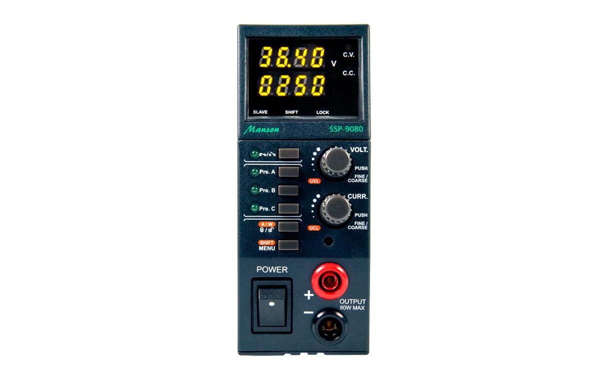 ssp-9080 manson fuente alimentación laboratorio 0,5-36v dc amperios regulables de 0- 5a, los circuitos de seguridad tales como protección de sobrecarga, sobre voltaje (ovp), el exceso de temperatura y protección contra cortocircuitos para proteger el dispositivo.