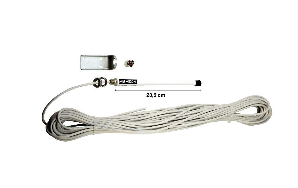 smart25vlbracket mirmidon antena marina vhf152 162 cable 25 m rg58