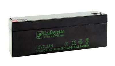 SW1223 LAFAYETTE Batería de Plomo recargable 12 volt. 2,3 Amp.