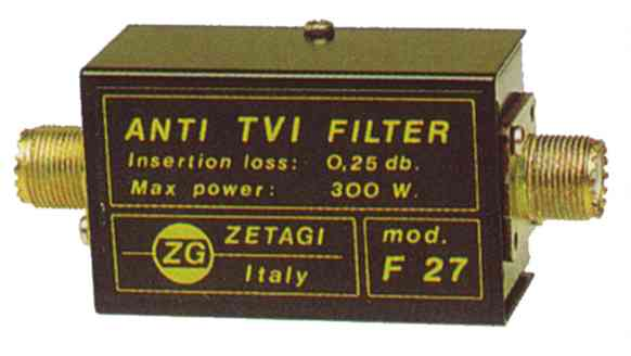 Lowpass Filter TV - CB Zetagi F27