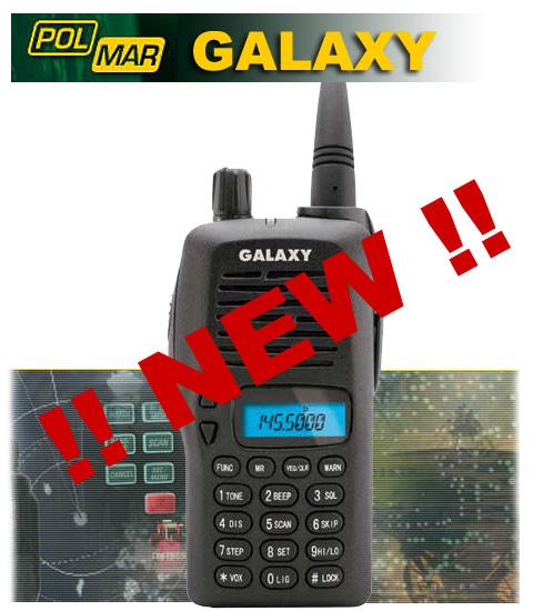 POLMAR GALAXY VHF 144 MHZ HANDHELD + EARPHONE FOR FREE!!