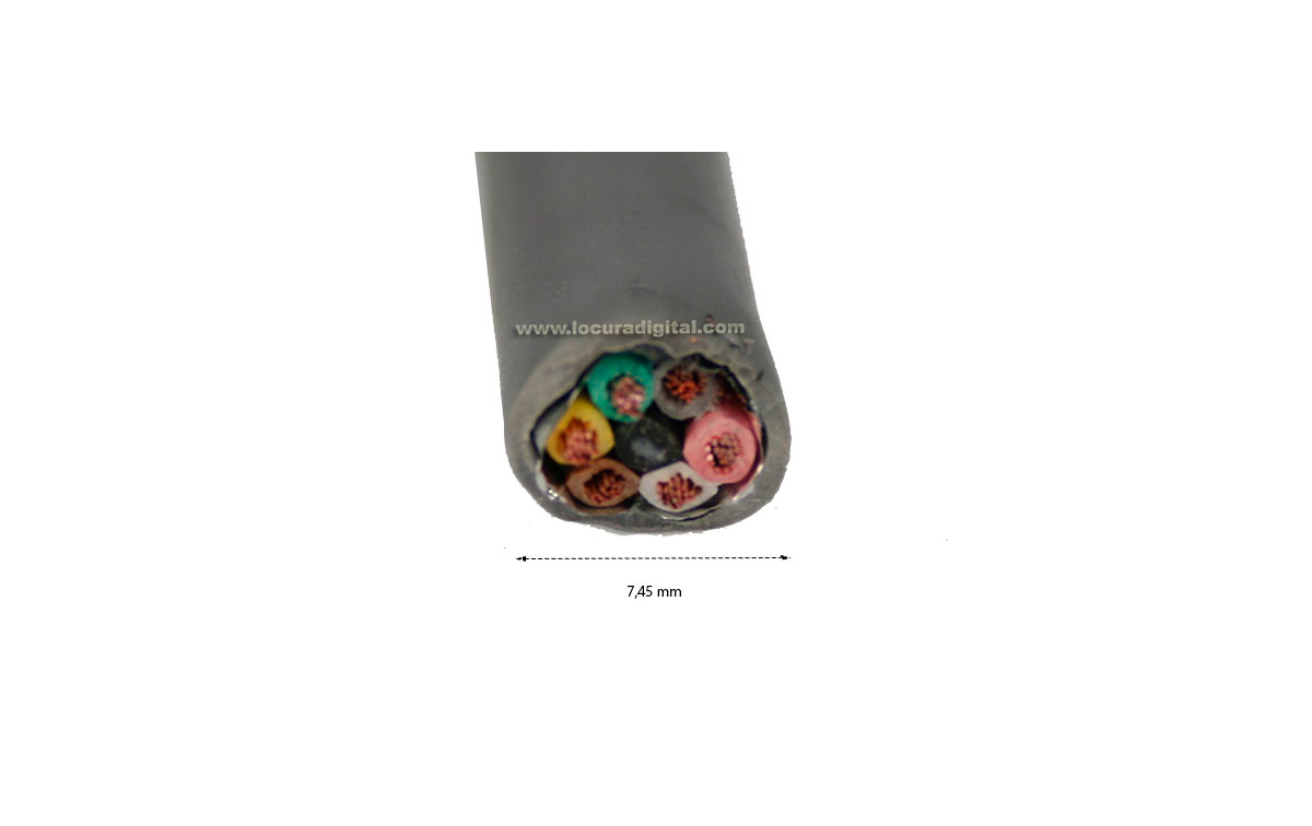 CPR6 M&P Cable para rotor 7 hilos x 0,75 mm. malla de masa y cubierto de lámina de aluminio.