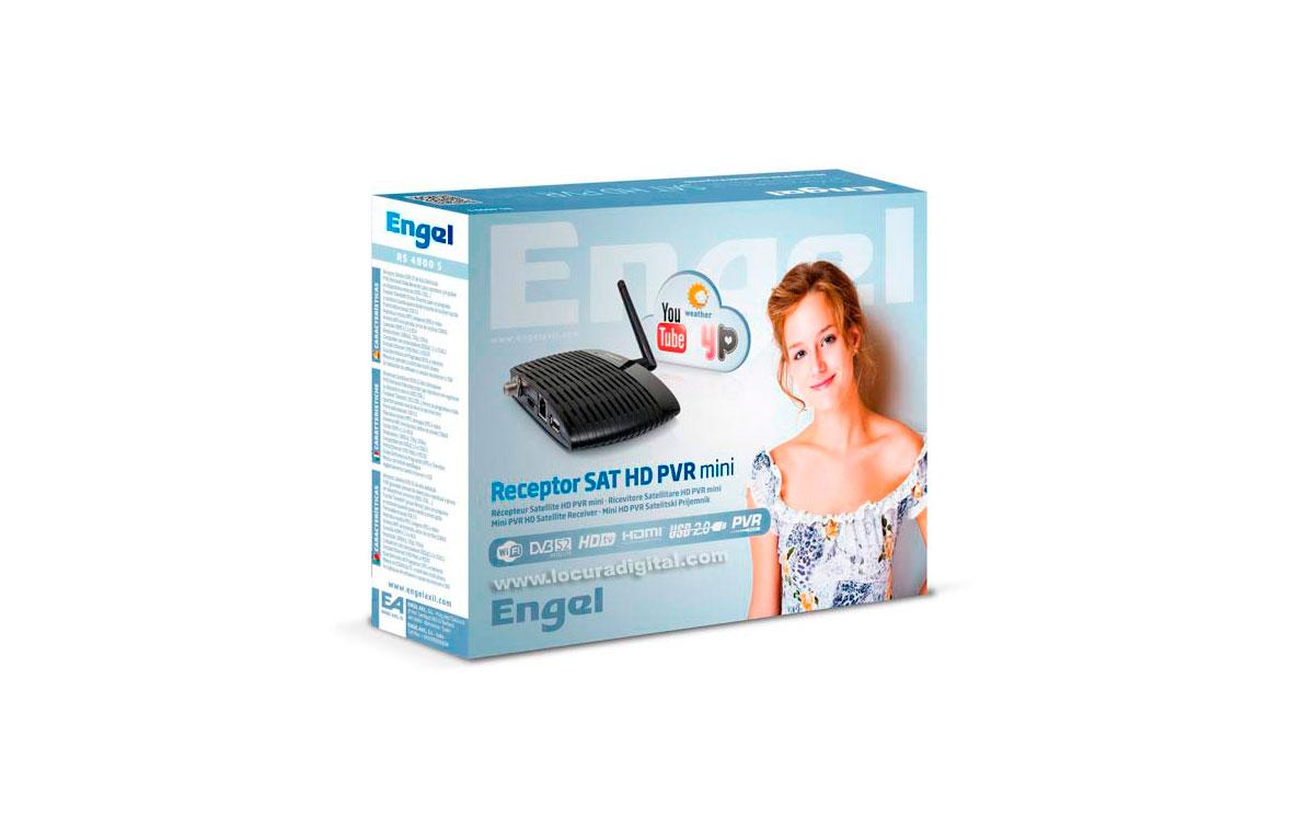 RS4800S ENGEL Receptor Satélite HD con PVR