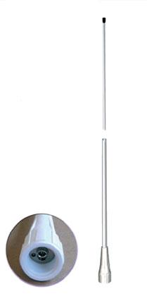 fastfit 25 vhf banten antena marina nautica fibra vidrio vhf 156 162 mhz.6 db.2,5 mt.