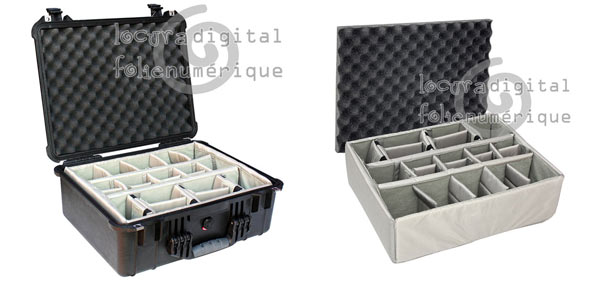 1550-004-110 Protective Case Black with dividers