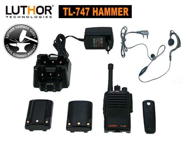Contenido del kit LUTHOR TL-747 HAMMER