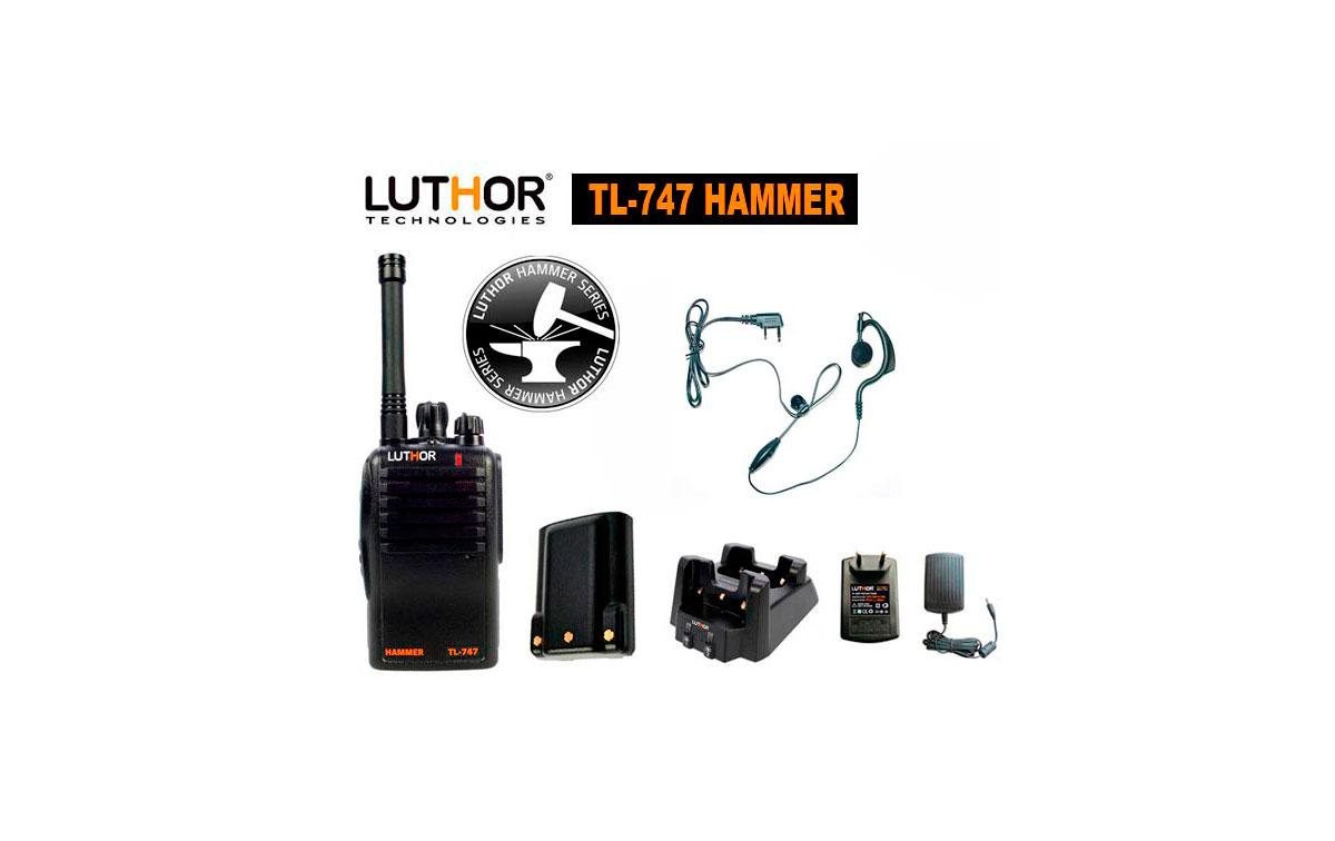 luthor tl-747 hammer walkie 16 canales pmr 446 mhz. proteccion al agua ip-65