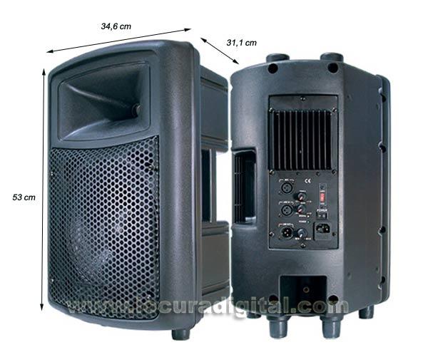 BARRISTER BAMP-10  Altavoz con amplificador integrado 100 W.