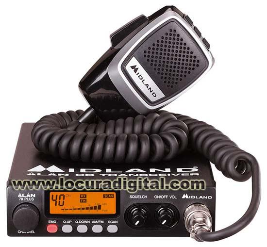 ALAN 78 PLUS MULTI CB 27 Mhz transmitter. AM / FM.