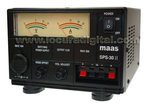 MAAS SPS-30II Switching Power Supply. 220v / 13,8v. 30 / 35 amps.