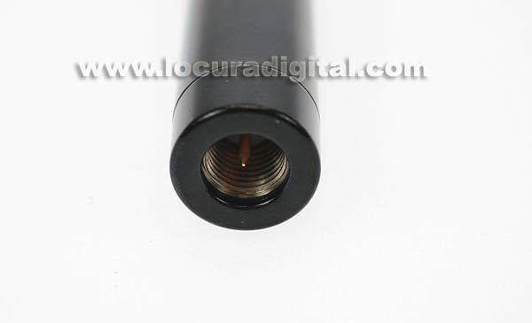Antena HOXIN bibanda SRH701SHOX para walkies. 144/430 Mhz. SMA, 22 cm.