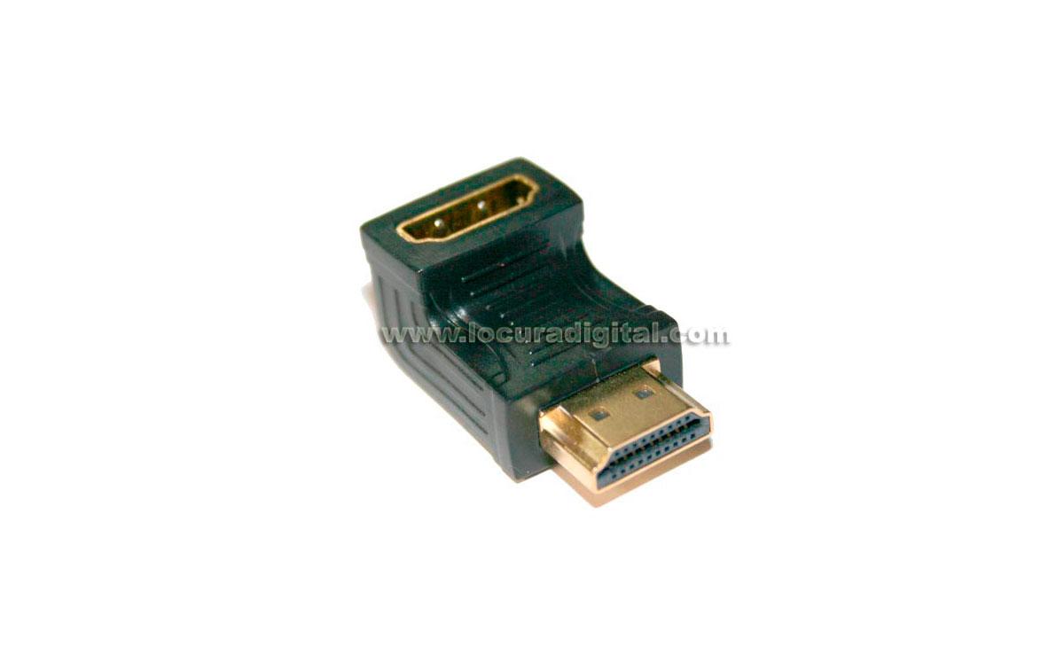 HDMI1880 Conector HDMI acodado Macho-Hembra - 19P TIPO A