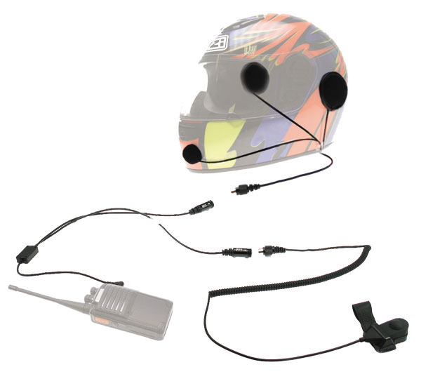 NAUZER KIM-55-M2. Headset Microphone Kit for use with helmet. For Mororola and Cobra handhelds