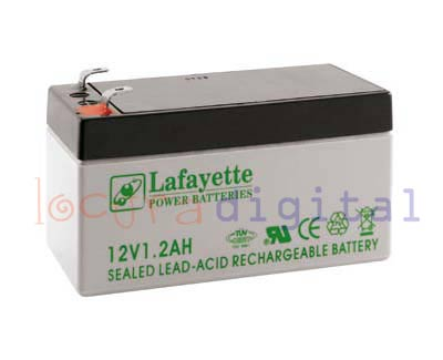 1212 SW Lafayette RECHARGEABLE LEAD BATTERY VOLTAGE 12 V. Power 1.2 amp capacity. Terminal: T1