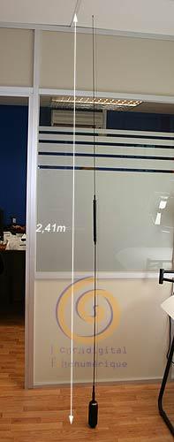 HA750BL COMET Antena movil HF TX 7 / 14 - 56 Mhz., 120 w SBB, long. 241 cms.