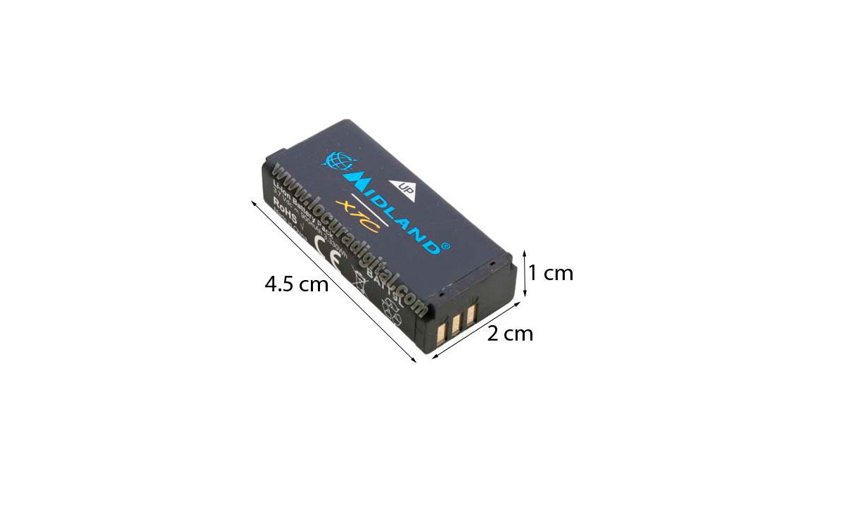 R72963 MIDLAND ALAN pack batería cámara acción XTC-200