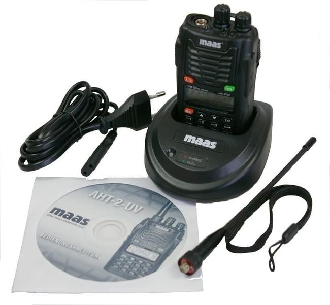 MAAS AHT2UV WOUXUN walkie bibanda VHF / UHF