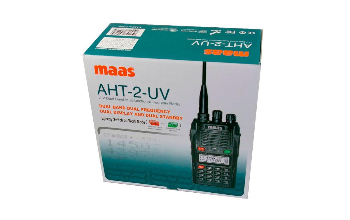AHT2UV MAAS walkie bibanda VHF/UHF