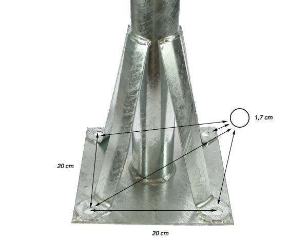 Ps70-850 Suporte para prato de 90 cm. Andar de instala?, 70 mm. di?tro
